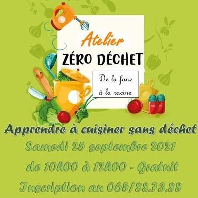 Atelier Zéro Déchet  - 25/09/2021