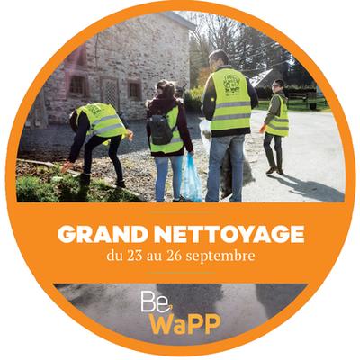 Grand Nettoyage de Be WaPP 23 au 26 septembre 2021