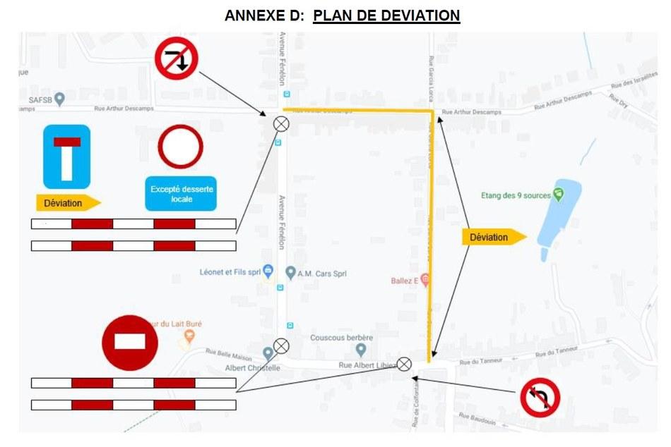 Plan deviation travaux rue Albert Libiez